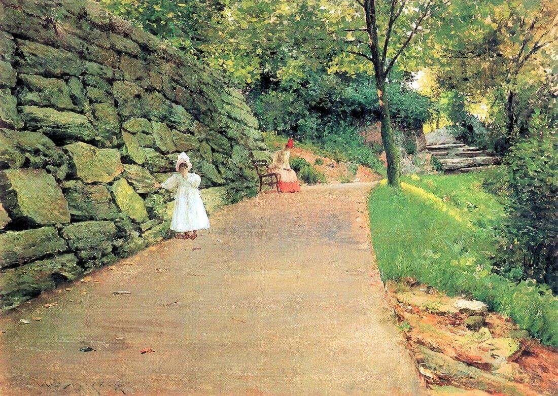 In the Park - A byway - William Merritt Chase