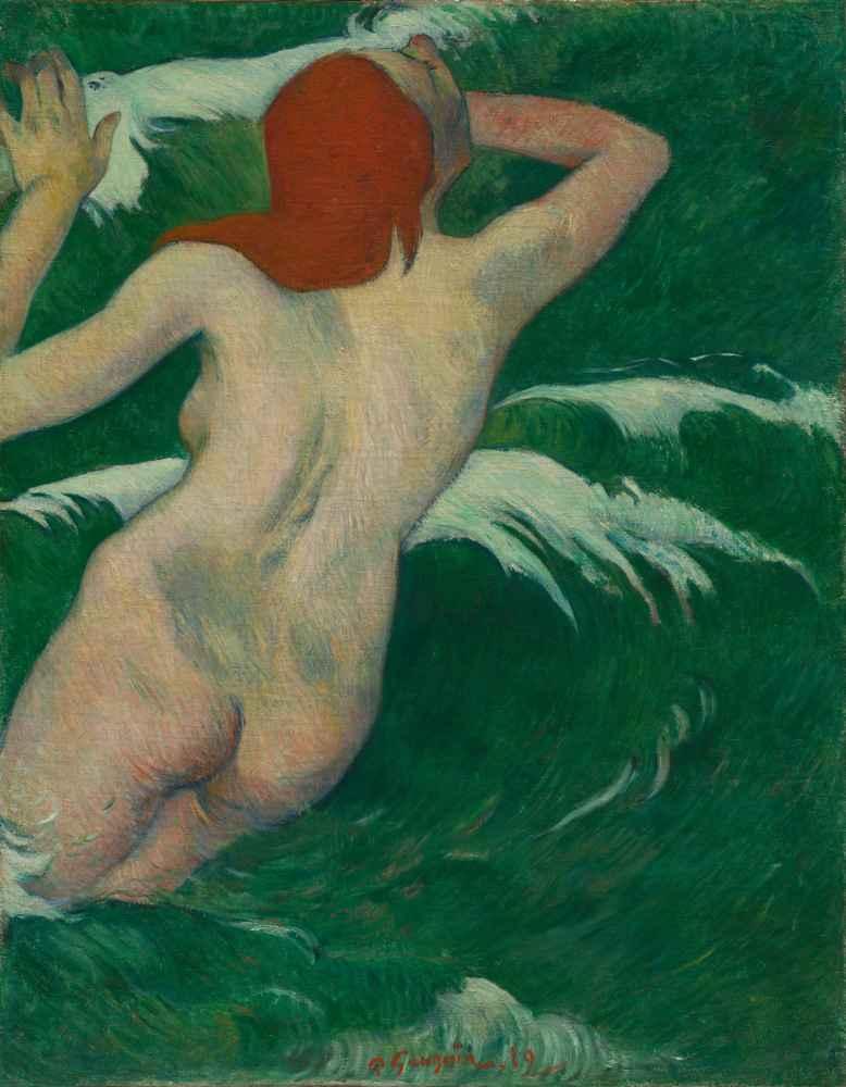 In the Waves (Dans les Vagues) - Paul Gauguin
