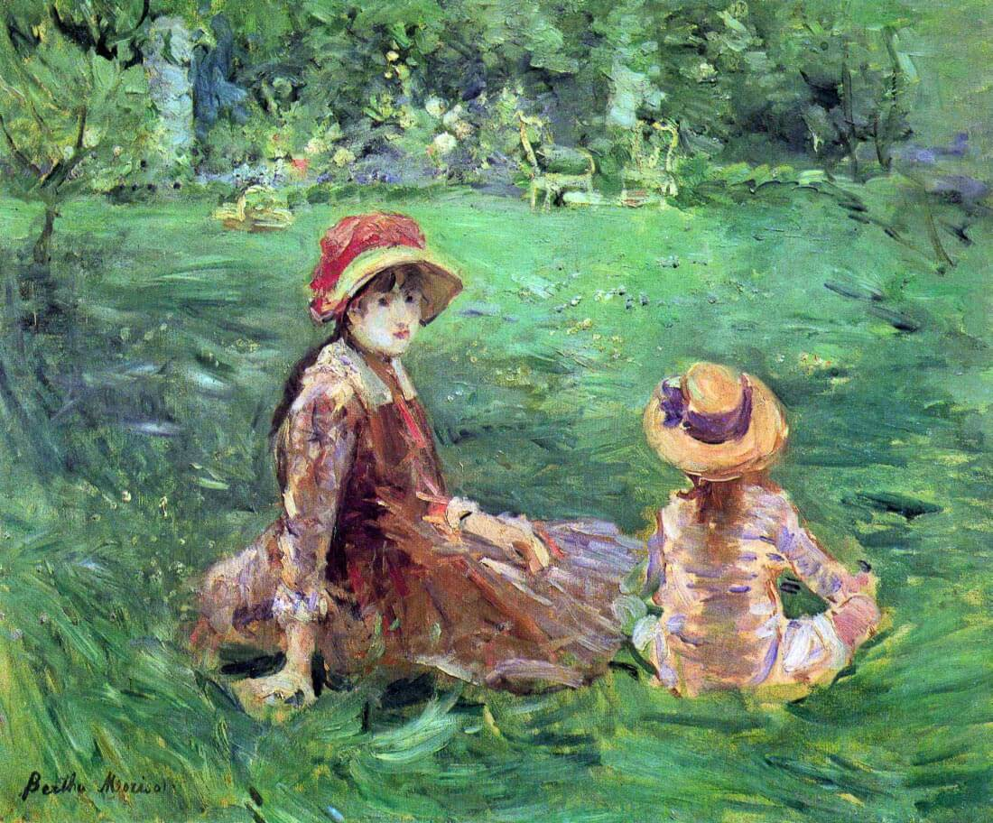 In the garden at Maurecourt - Morisot