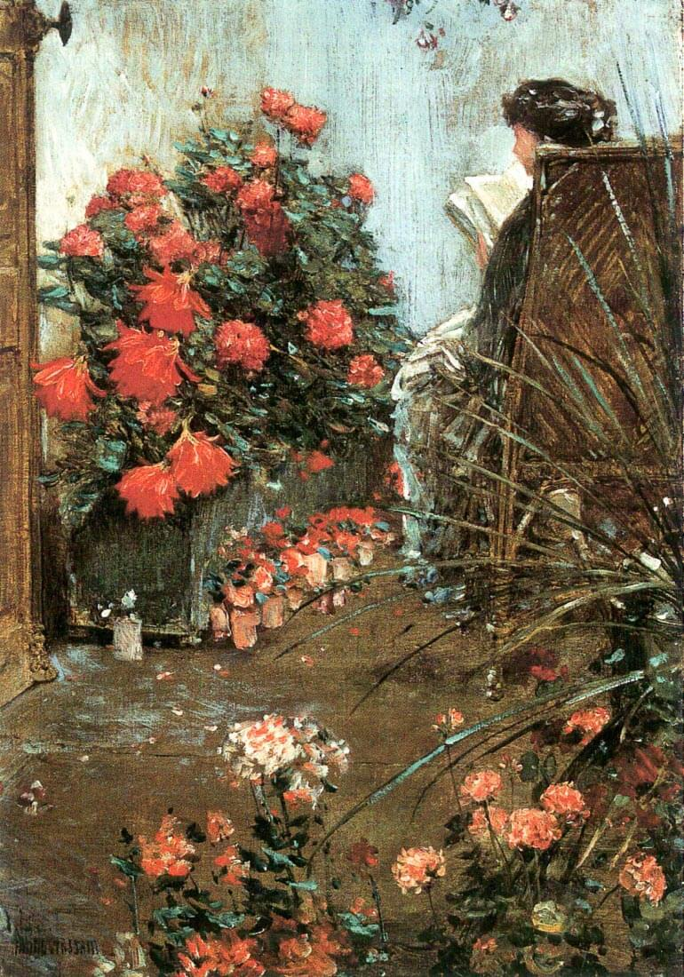 In the garden in Villiers-le-Bel - Hassam