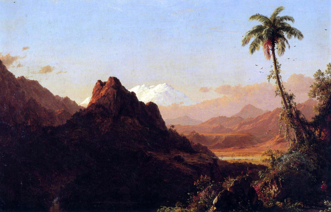 In the tropics - Frederick Edwin Church