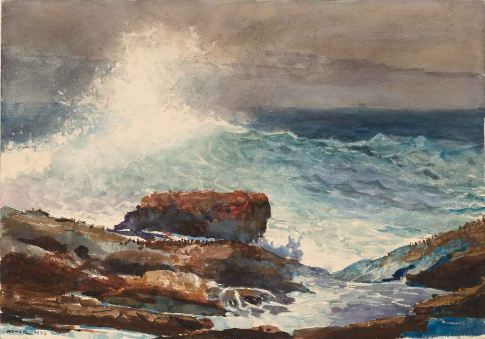 Incoming Tide, Scarboro, Maine - Winslow Homer