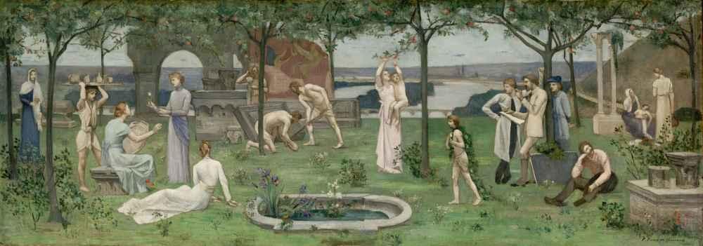 Inter artes et naturam (Between Art and Nature) - Pierre Puvis de Chav