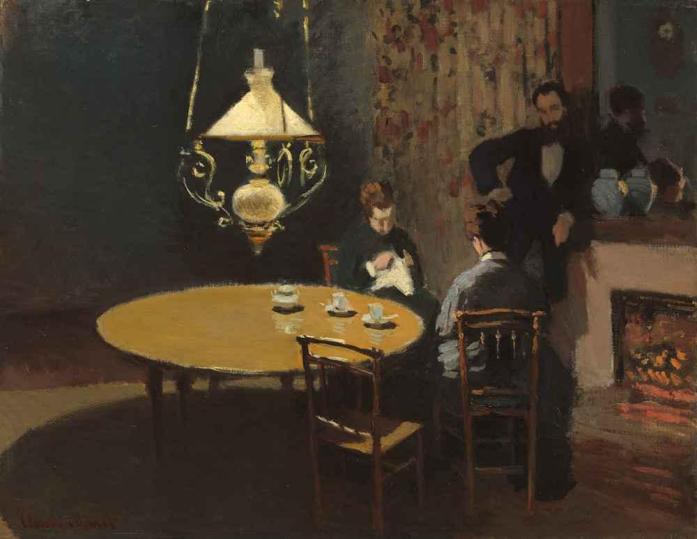 Interior, after Dinner - Claude Monet