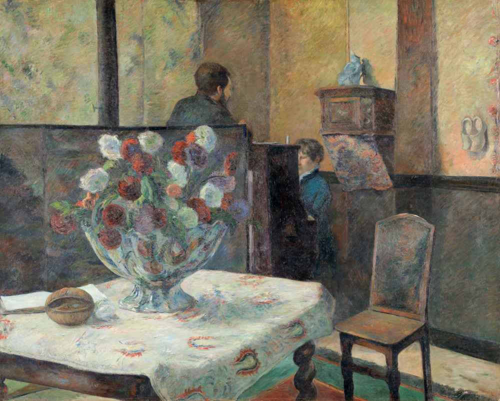 Interior from the artists home - Paul Gauguin