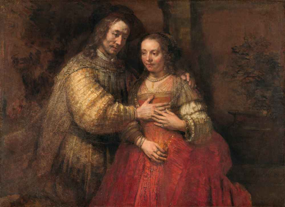 Isaac and Rebecca, Known as 'The Jewish Bride' - Rembrandt Harmenszoon