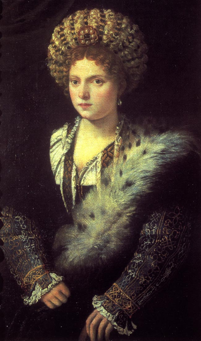 Isabella in black - Titian
