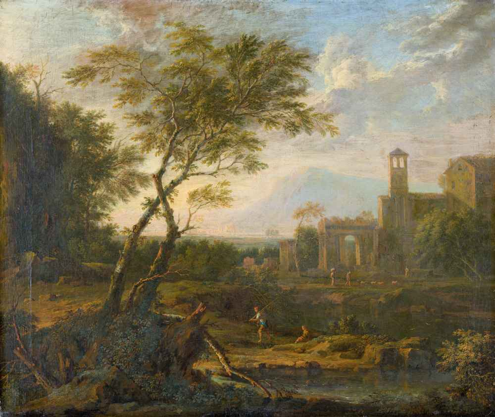 Italian Landscape - Jan van Huysum