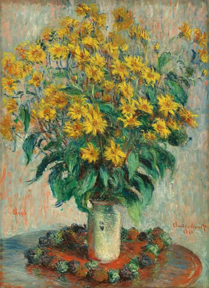 Jerusalem Artichoke Flowers - Claude Monet