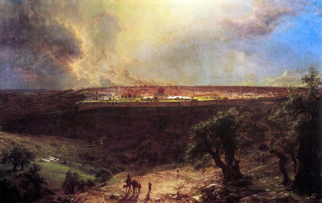 Jerusalem from the Mount of Olives - Frederick Edwin Church