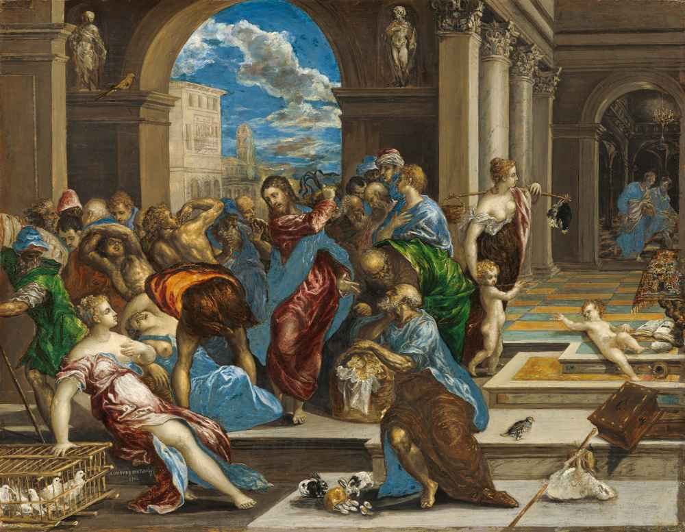 Jesus Clears the Temple Courts - El Greco