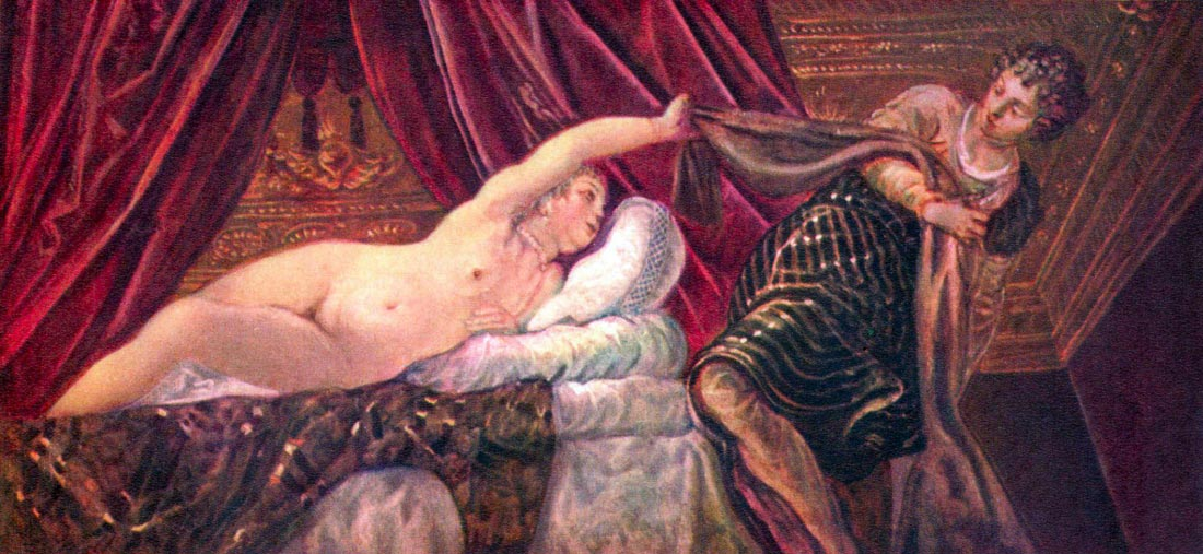 Joseph and the wife of Potiphar - Tintoretto
