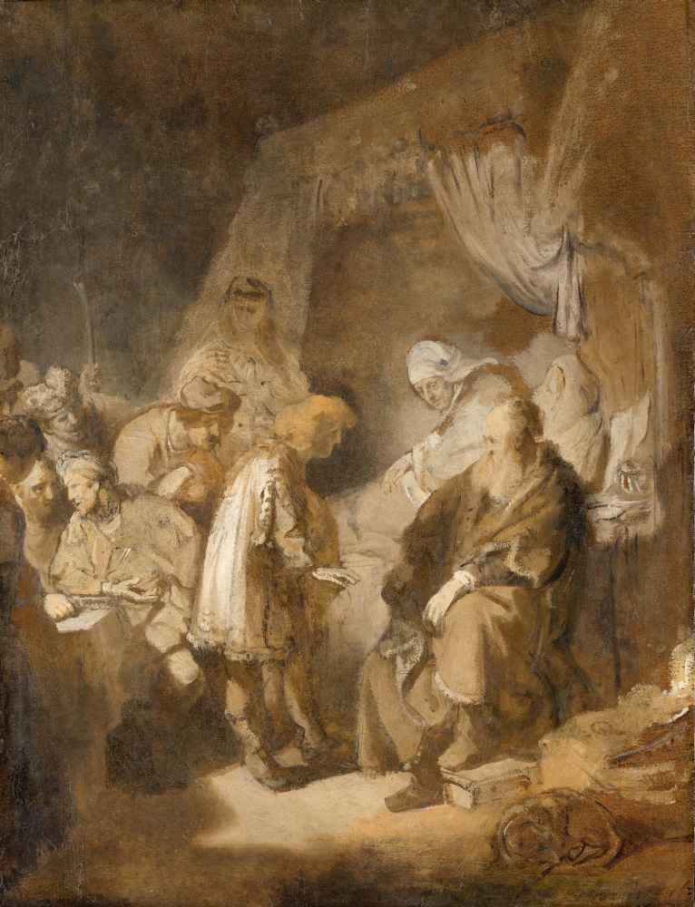 Joseph telling his dreams - Rembrandt Harmenszoon van Rijn