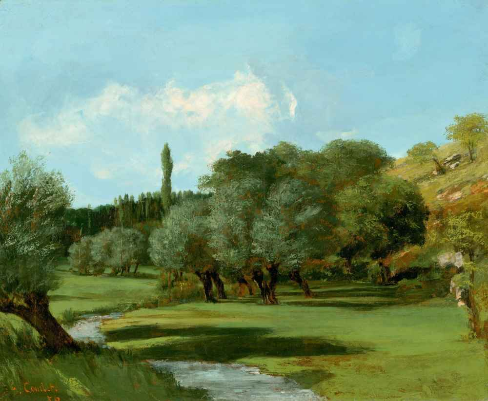 La Bretonnerie in the Department of Indre - Gustave Courbet