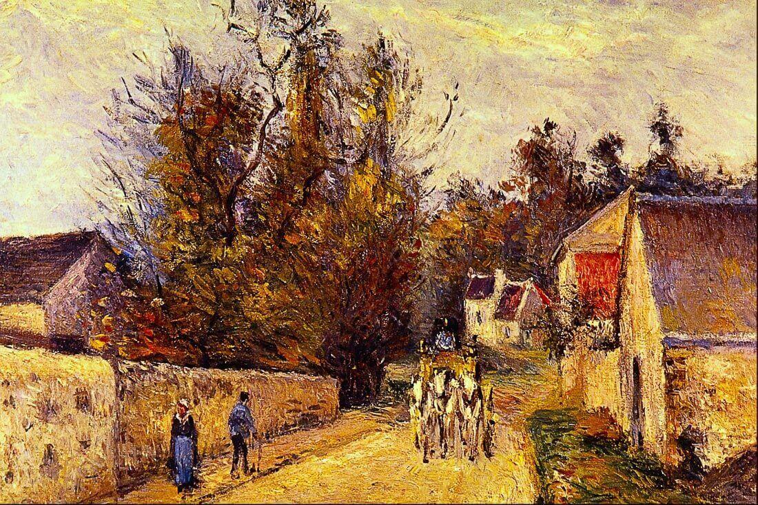 La Diligence, Route d Ennery - Pissarro