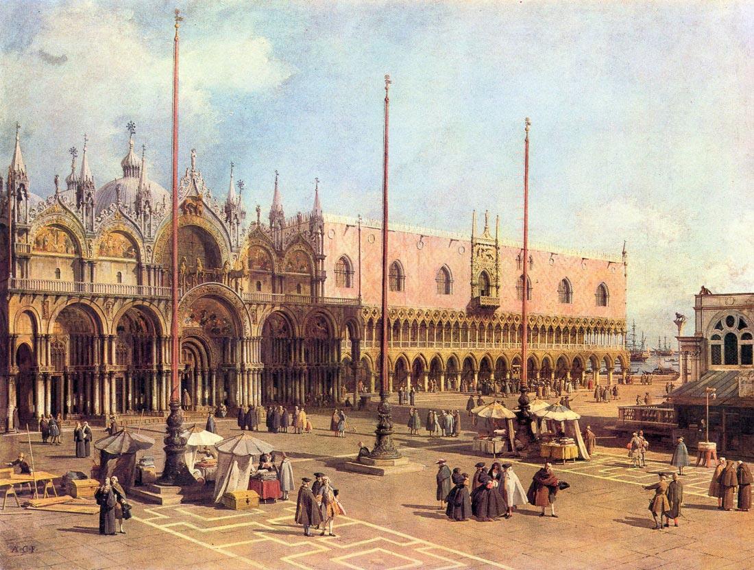 La Piazza San Marco - Canaletto