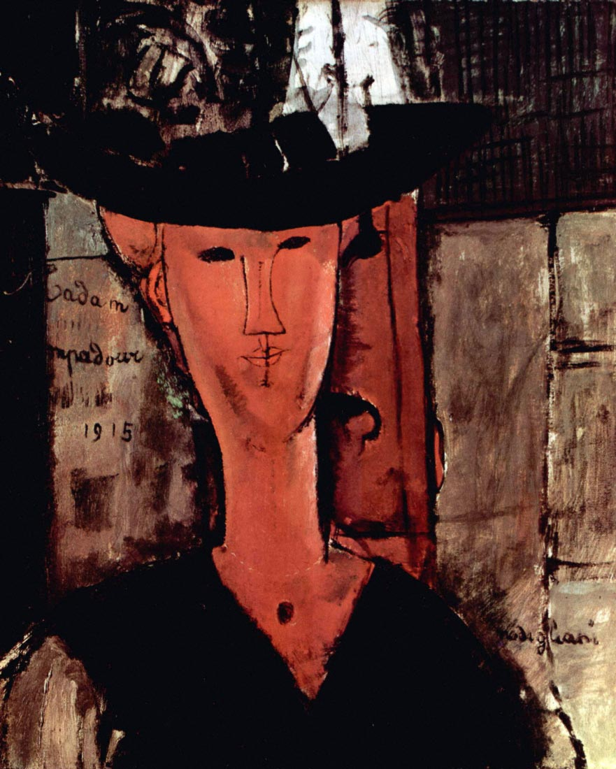 Lady With Hat - Modigliani