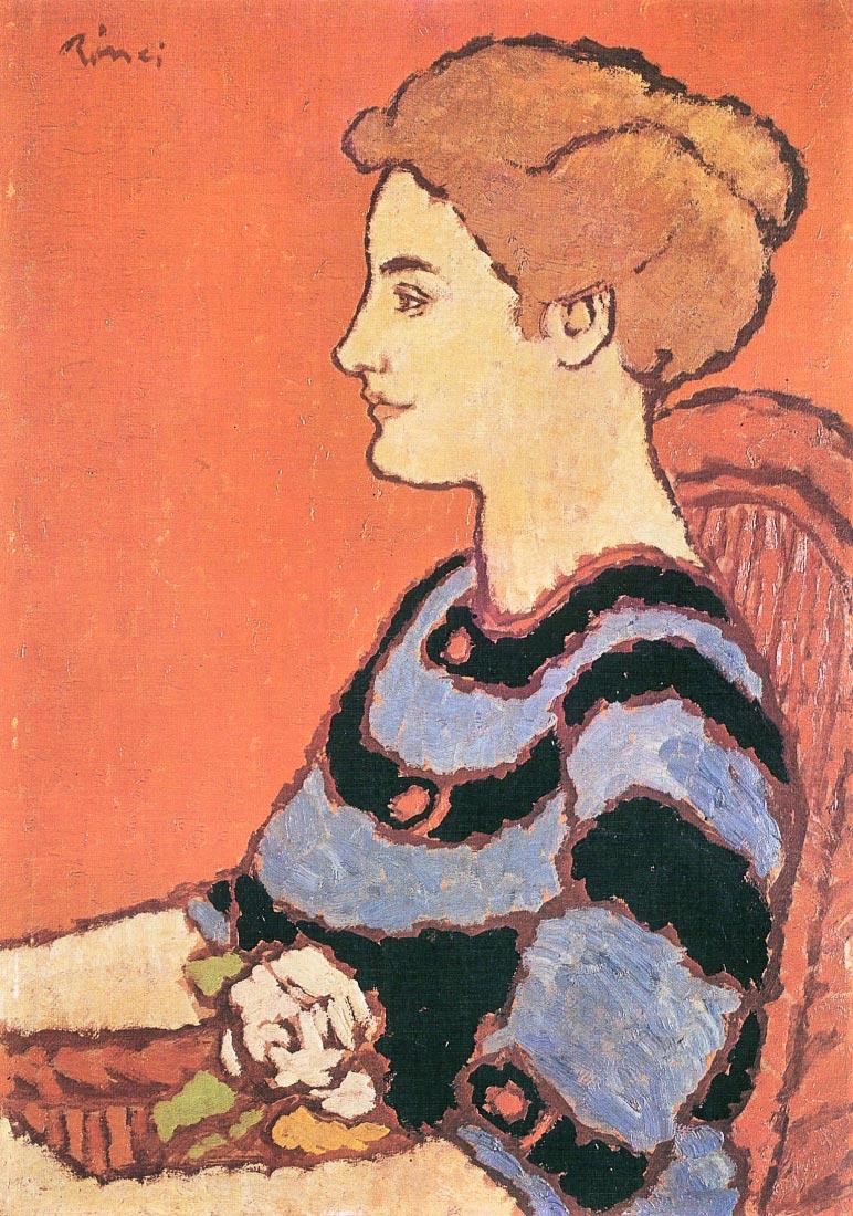 Lady in Blue - Joseph Rippl-Ronai