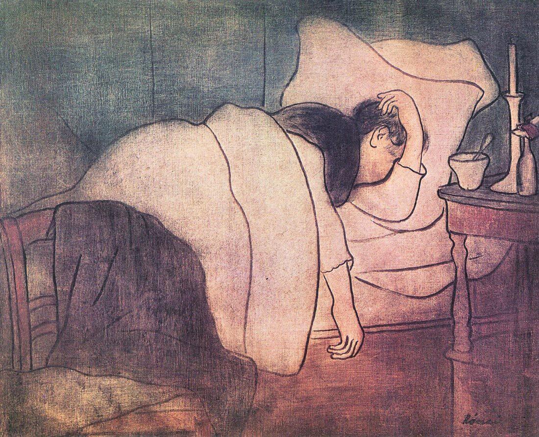 Lady in bed - Joseph Rippl-Ronai