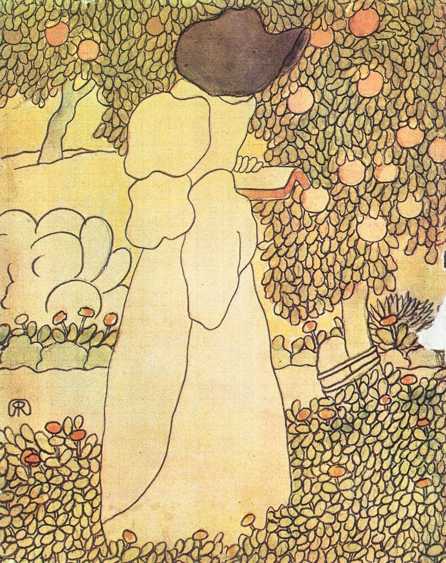 Lady in her garden - Joseph Rippl-Ronai