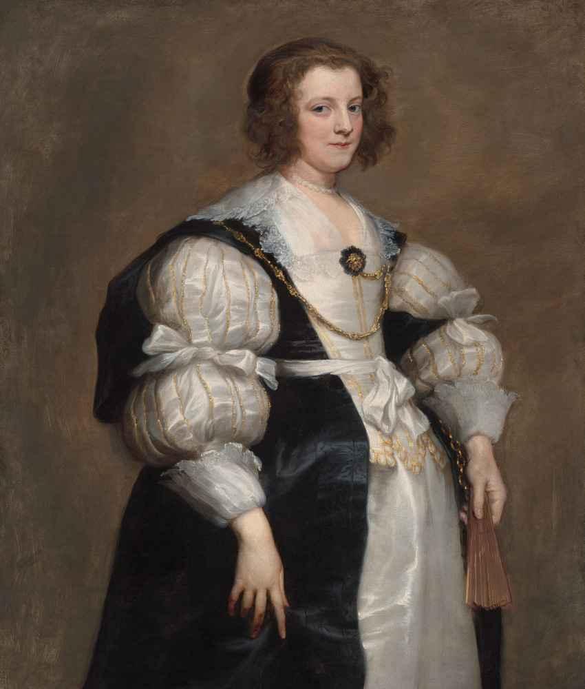 Lady with a Fan - Antoon van Dyck