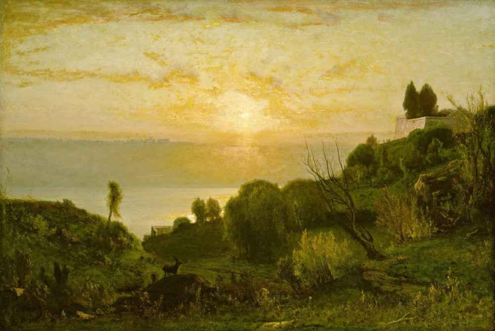 Lake Albano, Sunset - George Inness