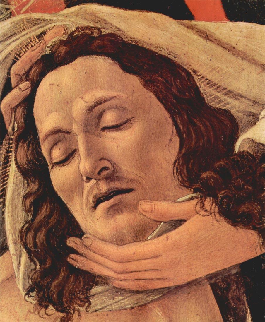Lamentation of Christ Detail - Botticelli