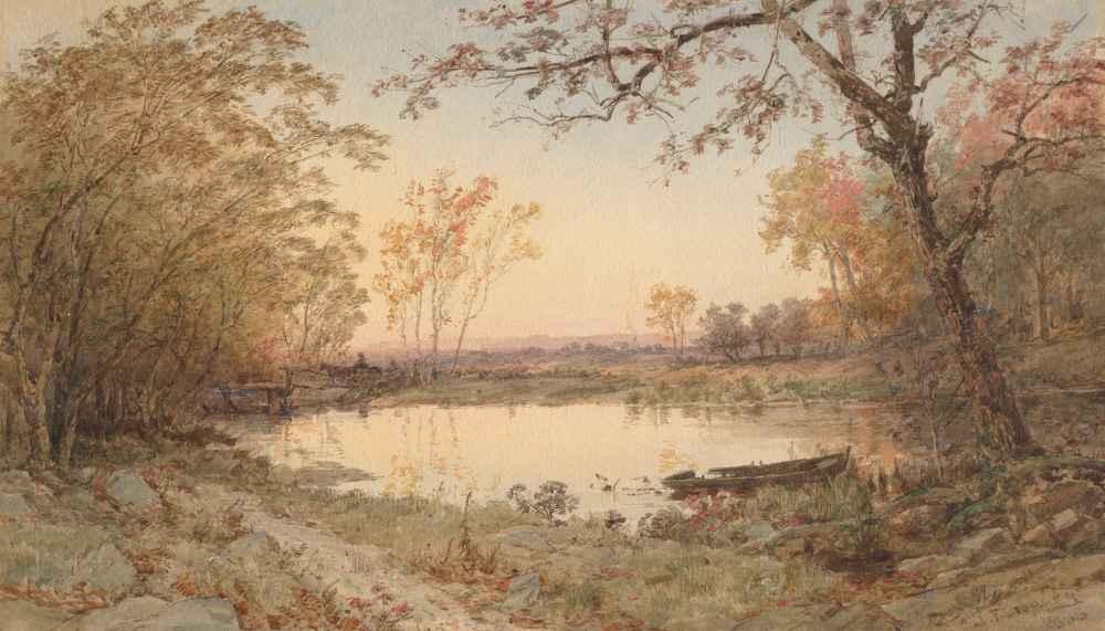 Landscape (Hastings-on-Hudson) - Jasper Francis Cropsey