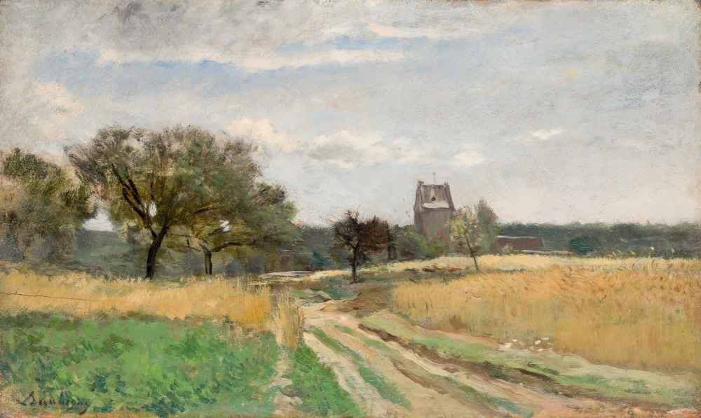 Landscape along a Country Road - Charles-Francois Daubigny