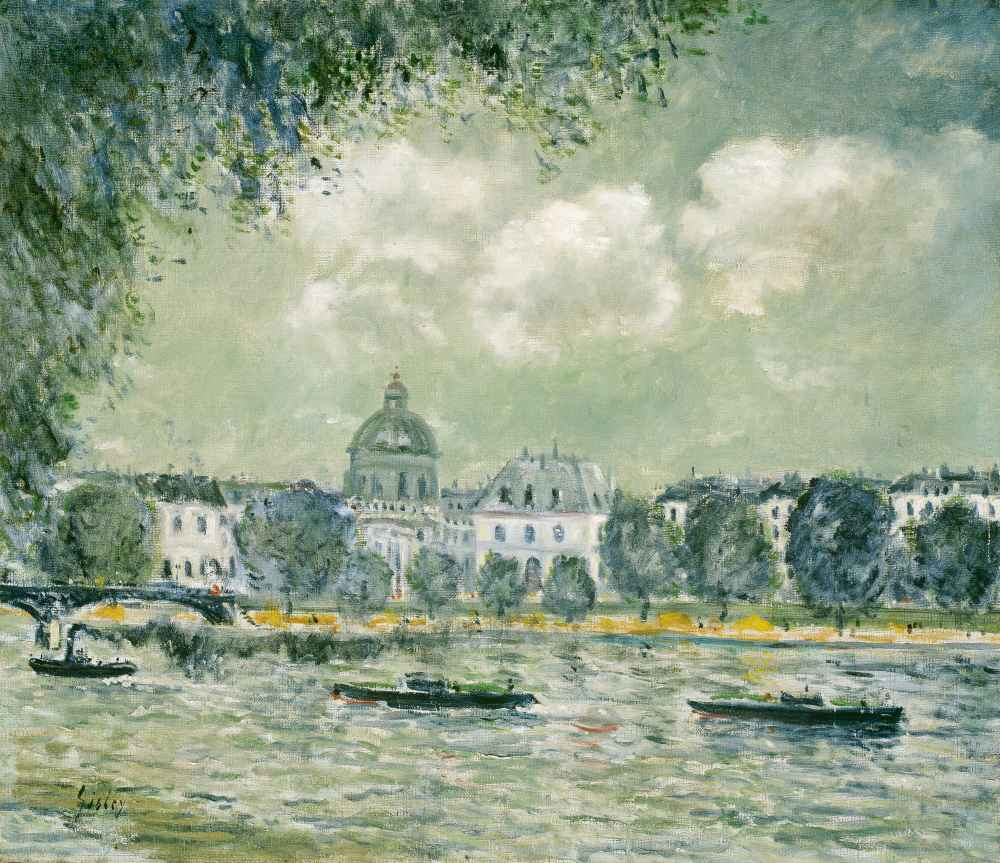 Landscape along the Seine with the Institut de France and the Pont des
