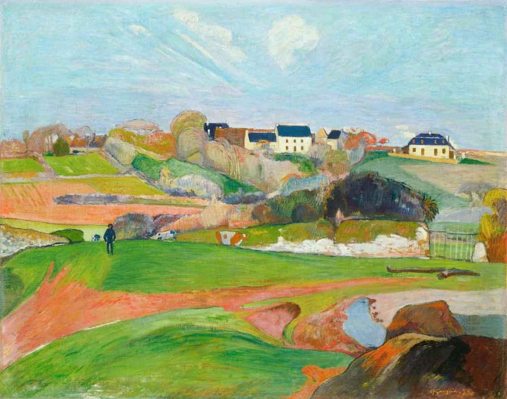 Landscape at Le Pouldu - Paul Gauguin