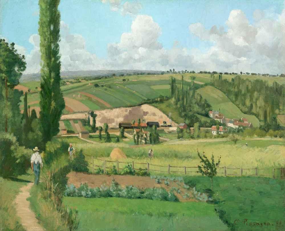 Landscape at Les Pâtis, Pontoise - Camille Pissarro