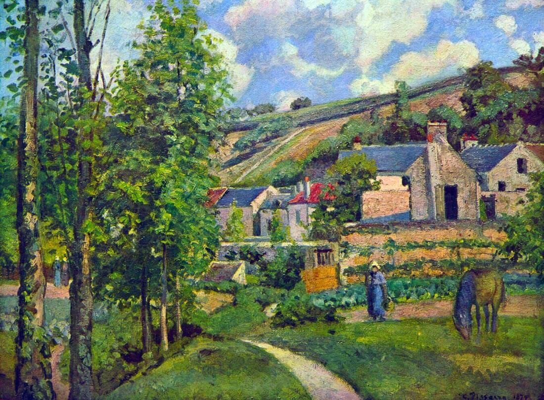 Landscape at Pontoise - Pissarro