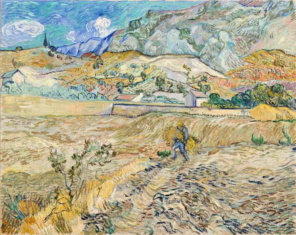 Landscape at Saint-Rémy - Vincent van Gogh