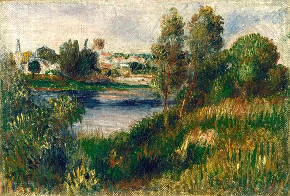 Landscape at Vétheuil - Auguste Renoir
