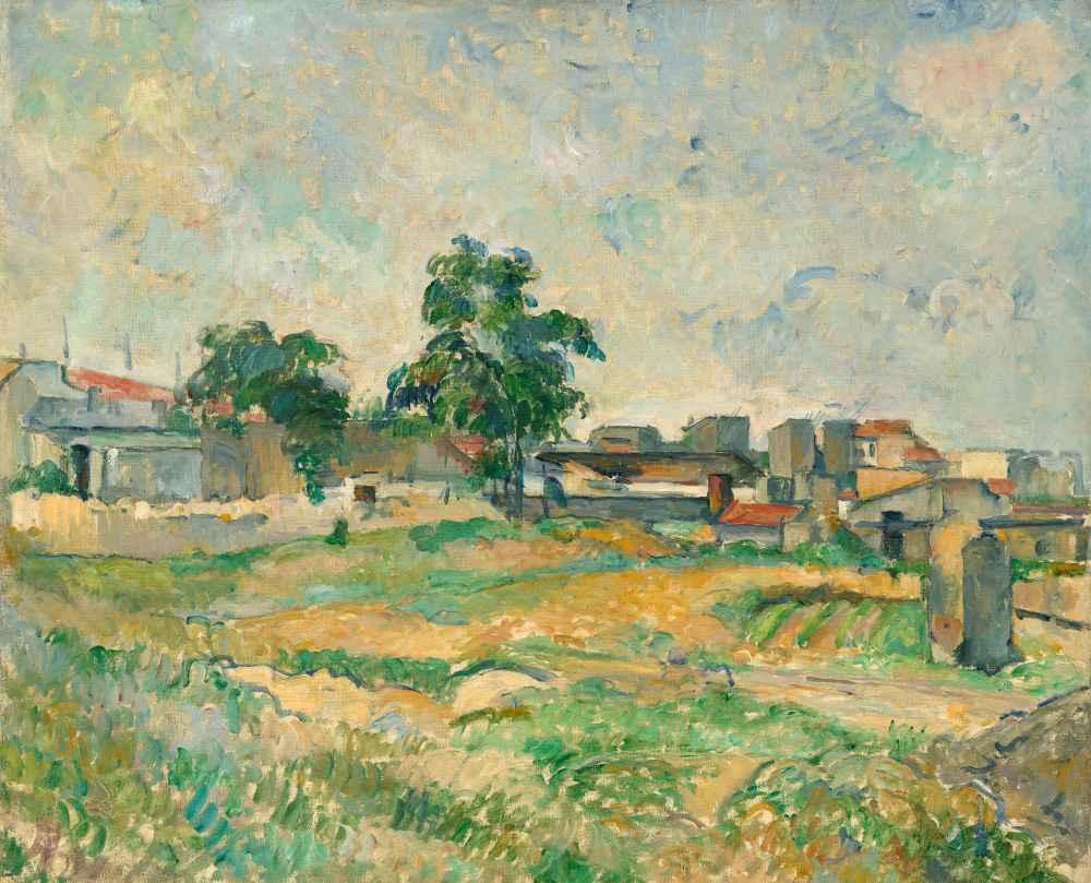Landscape near Paris - Paul Cezanne