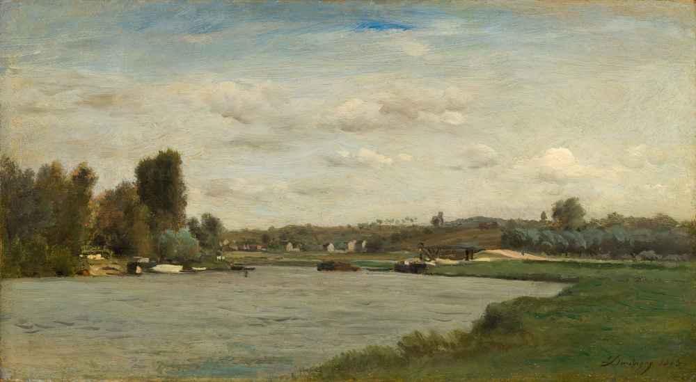 Landscape on a River - Charles-Francois Daubigny