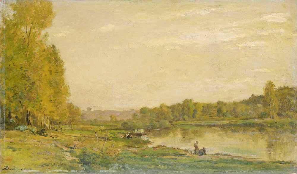 Landscape on the Oise - Charles-Francois Daubigny
