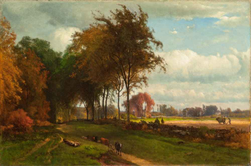 Landscape with Cattle - George Inness