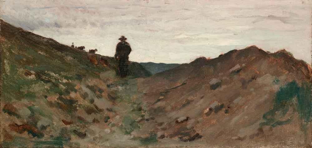 Landscape with Figure - Jean Baptiste Camille Corot