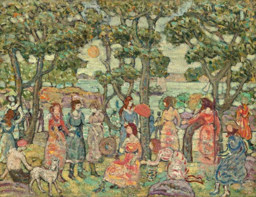 Landscape with Figures - Maurice Brazil Prendergast