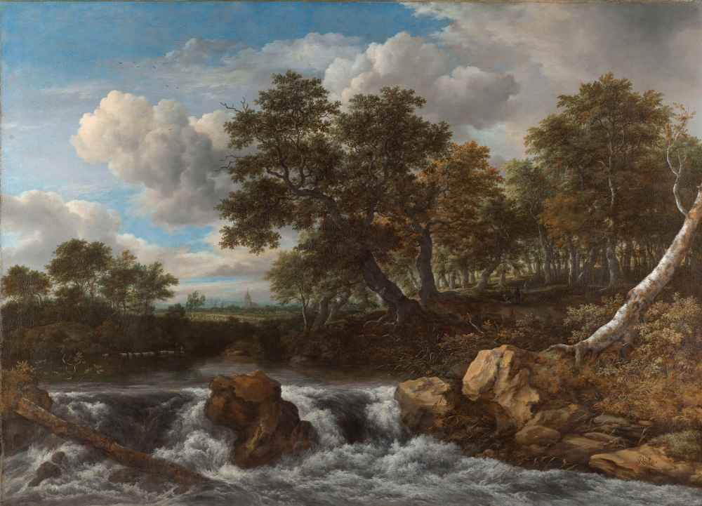 Landscape with Waterfall - Jacob van Ruisdael