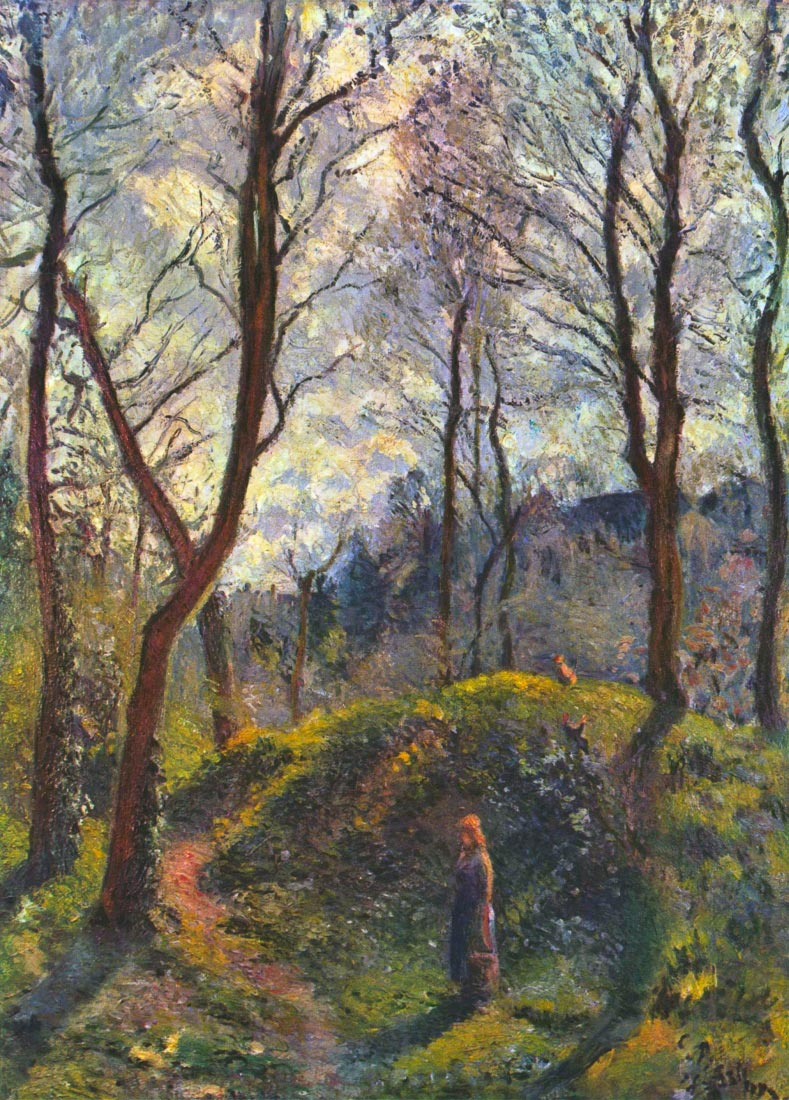 Landscape with big trees - Pissarro