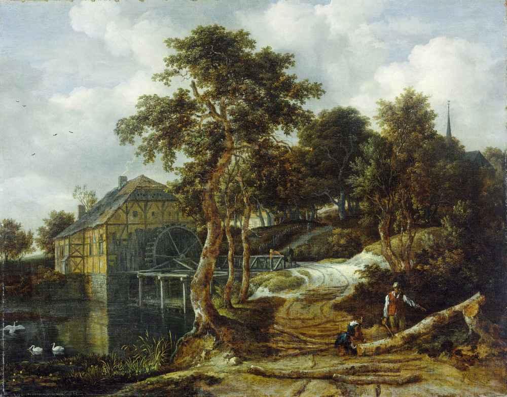 Landscape with watermill - Jacob van Ruisdael