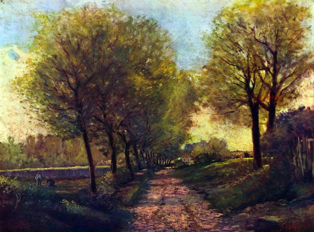 Lane near a small Town - Sisley