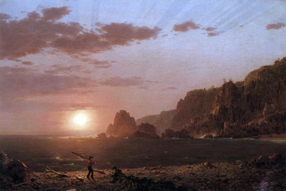 Large Manan Island, Bay of Fundy - Frederick Edwin Church