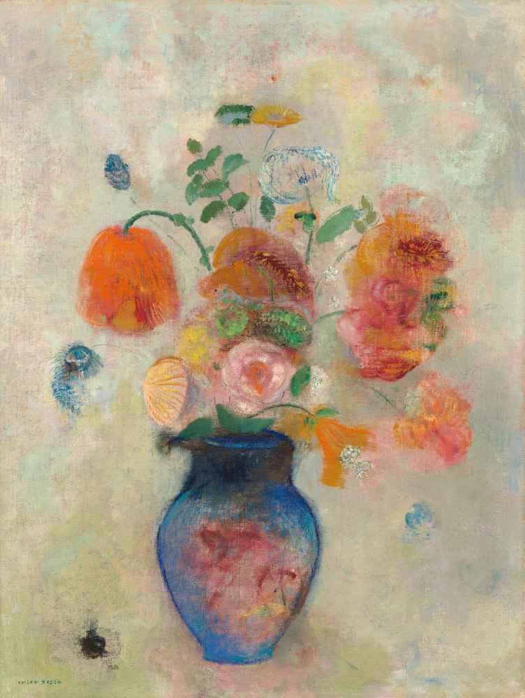 Large Vase with Flowers - Odilon Redon
