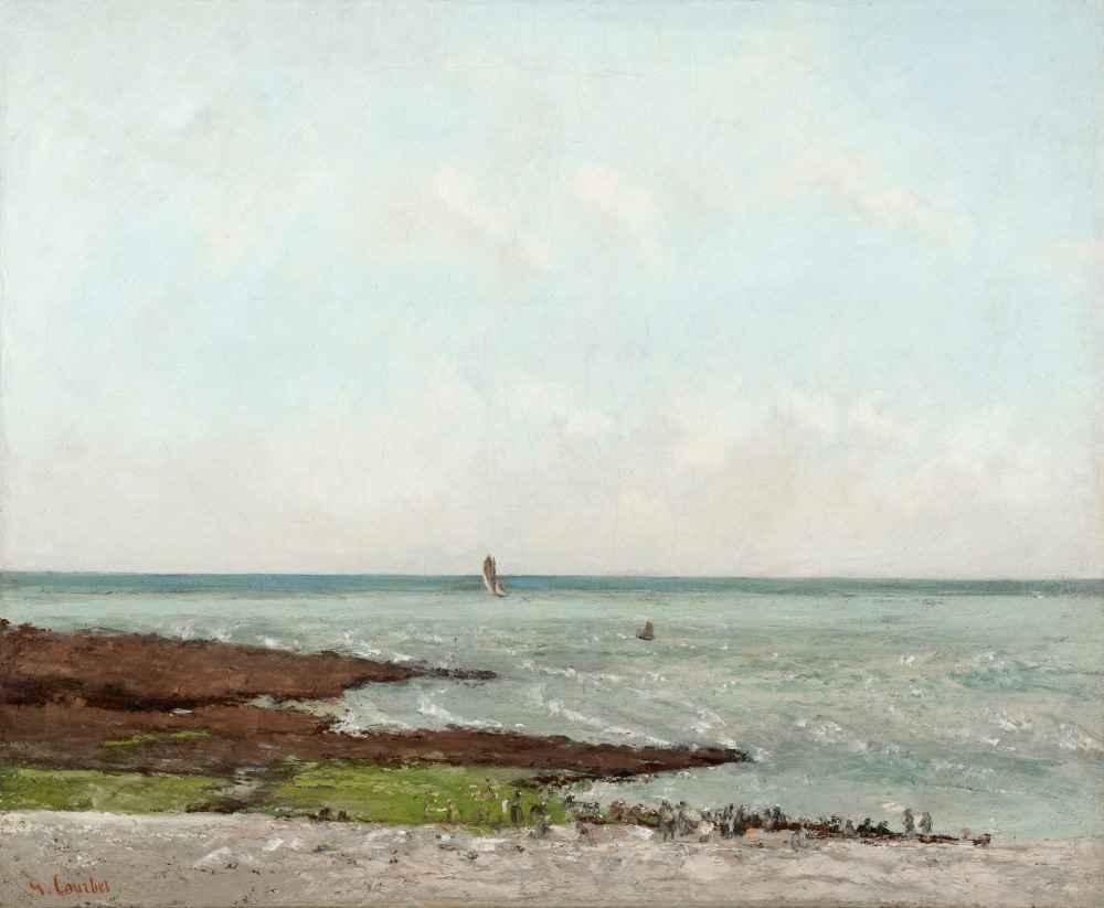 Laundresses at Low Tide, Étretat - Gustave Courbet