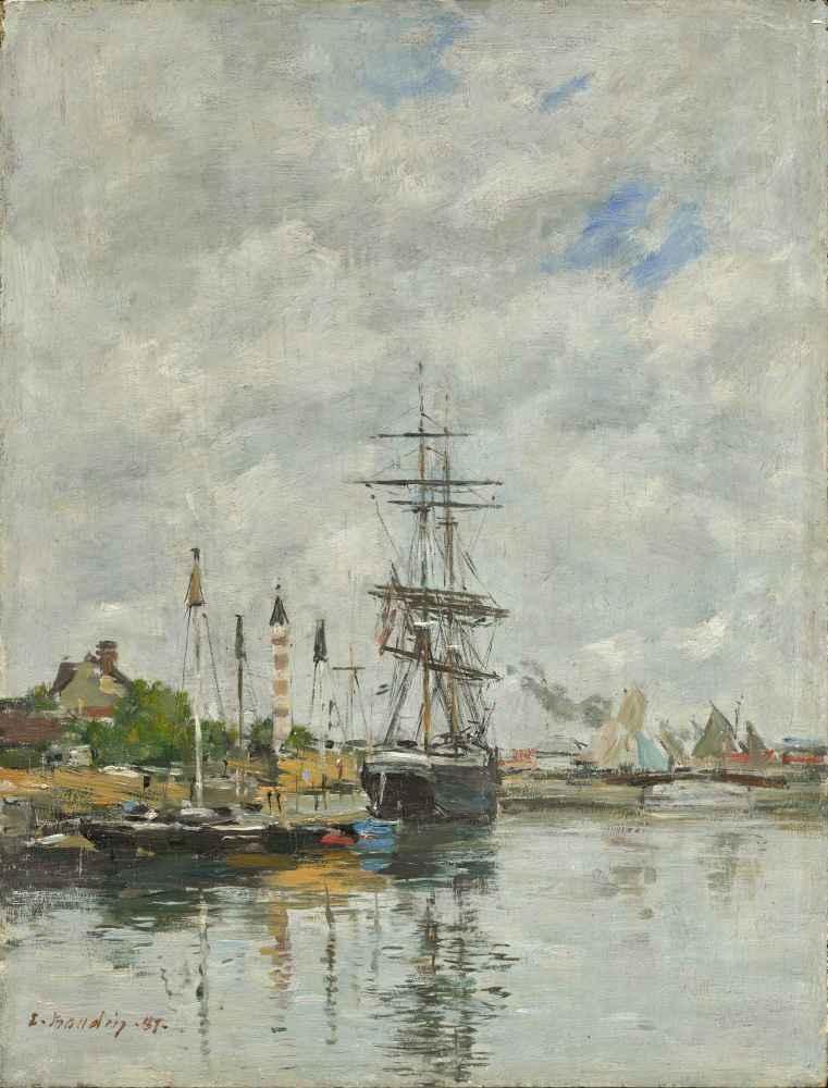 Le Havre, Sailboats in the Port - Eugene Boudin