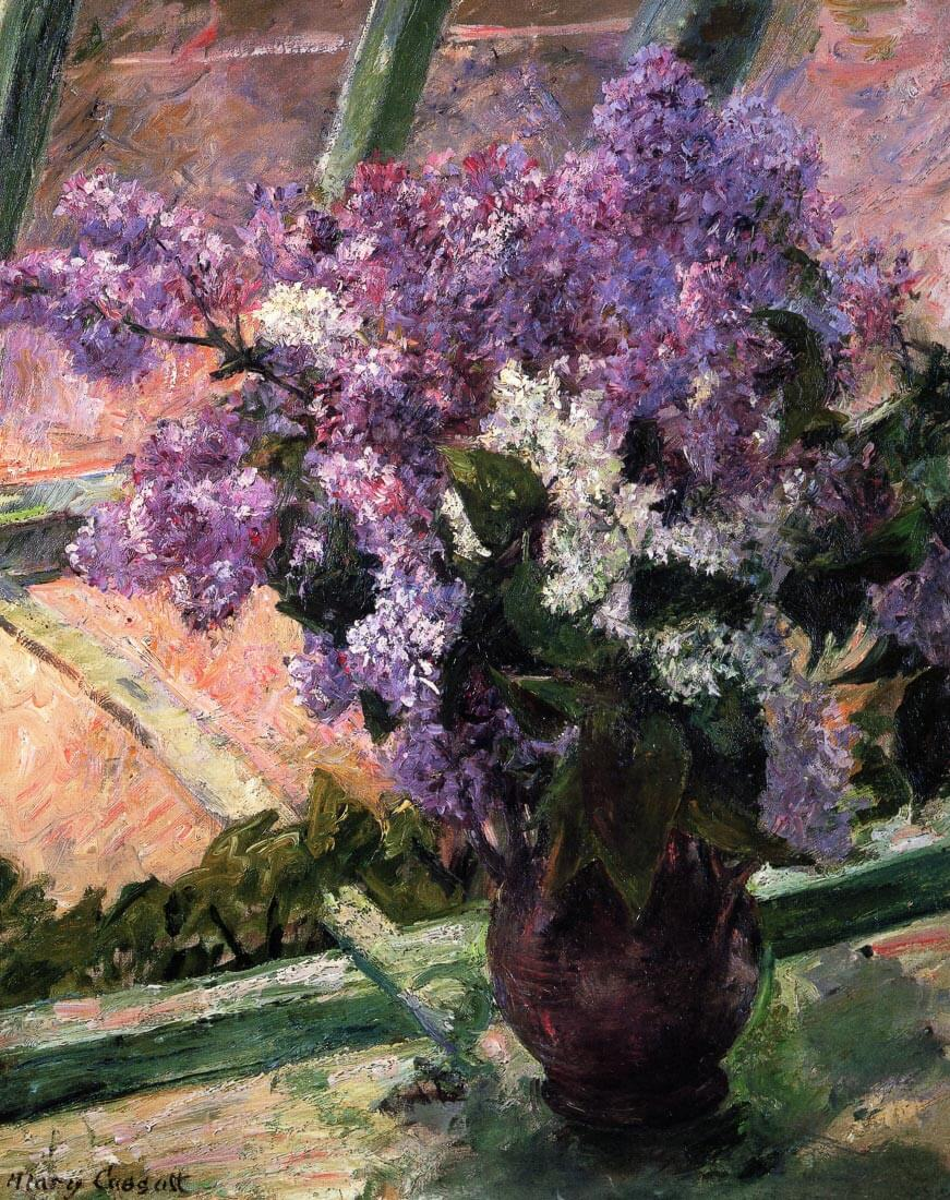 Lilacs in a Window 1880 - Cassatt